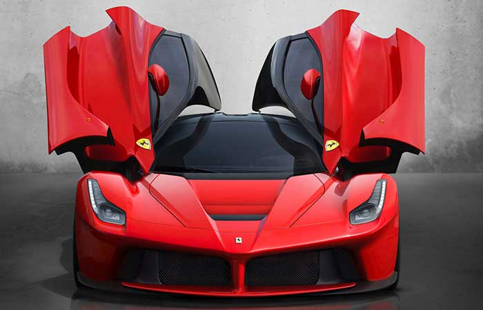 Ferrari LaFerrari with open doors