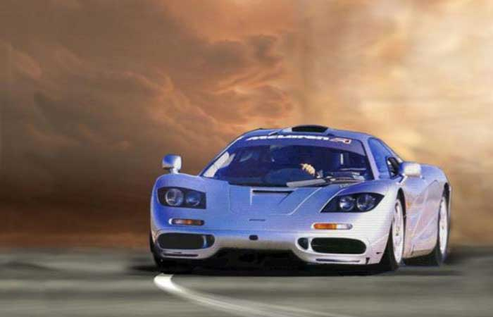 McLaren F1 on the road