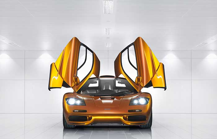 McLaren F1 with open doors