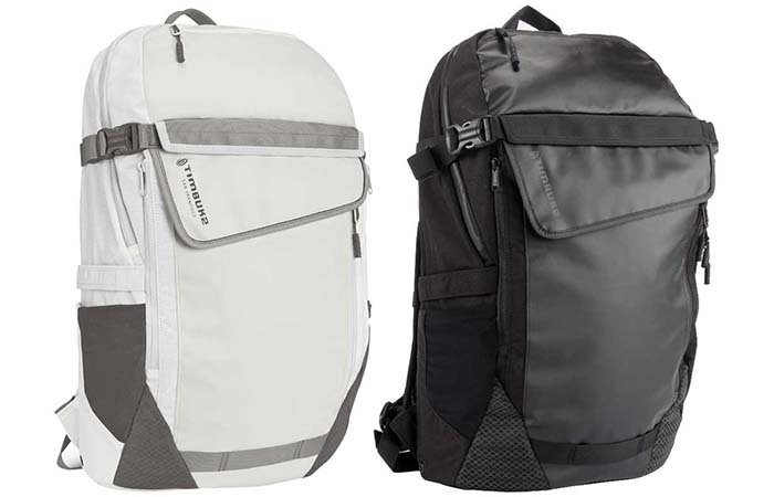 Timbuk2 Especial Medio Backpack in two colors, white and black
