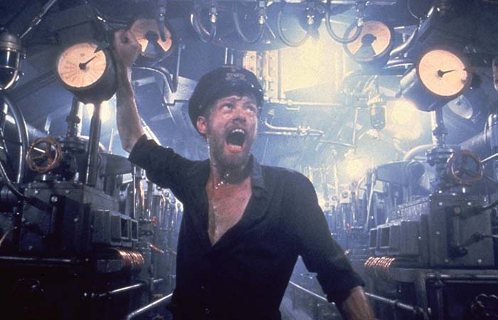 In the submarine in Das Boot