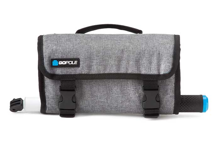 A closed Weather Resistant Roll-Up Case for GoPro Cameras by GoPole