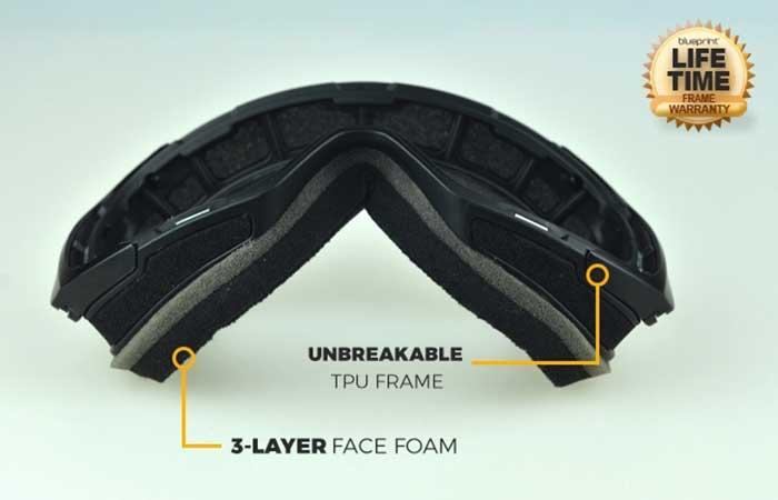 BSG2 Magnetic Lens Snowboard Goggles frame