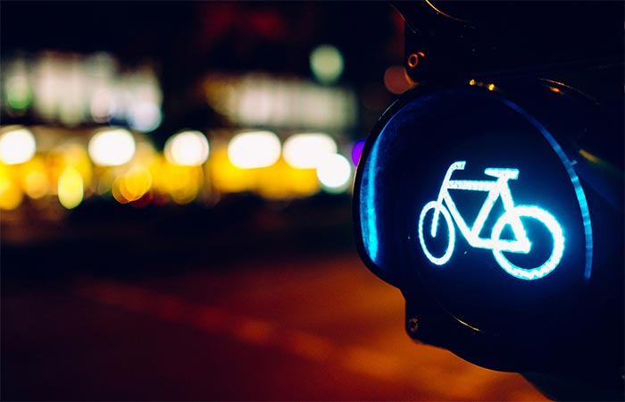 Green Light For Bicycle Riders