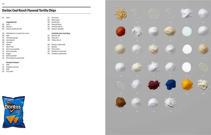 page from Ingredients A Visual Exploration of 75 Additives & 25 Food Products