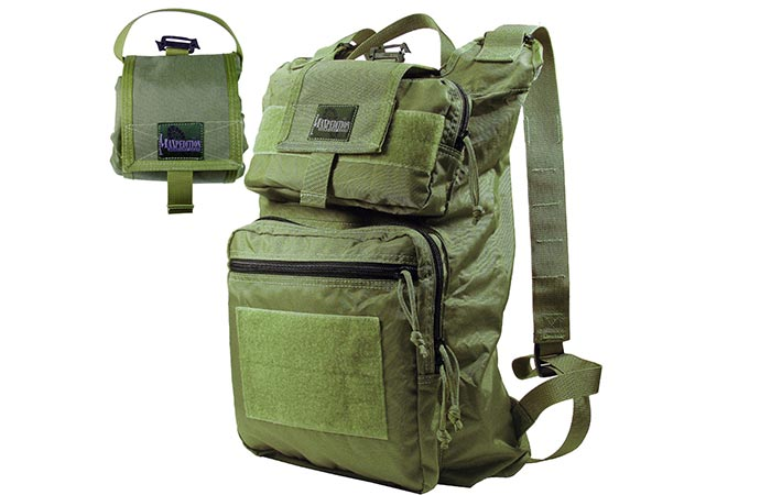 Maxpedition Foldable Backpack folded and not folded