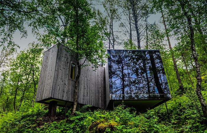 One Of The Separate Rooms In Norway's Juvet Landscape Hotel
