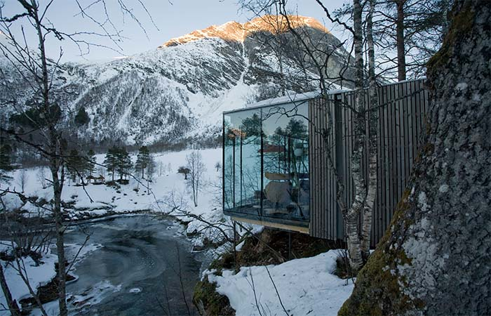 The Part Of Norway's Juvet Landscape Hotel In The Winter