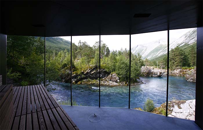 Norway's Juvet Landscape Hotel Steam Room With The View On The River
