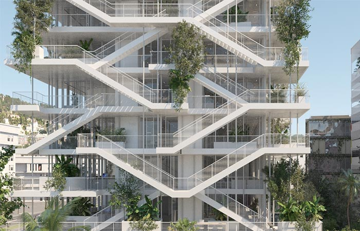 The Passages On Open Concept Green Office Building In France