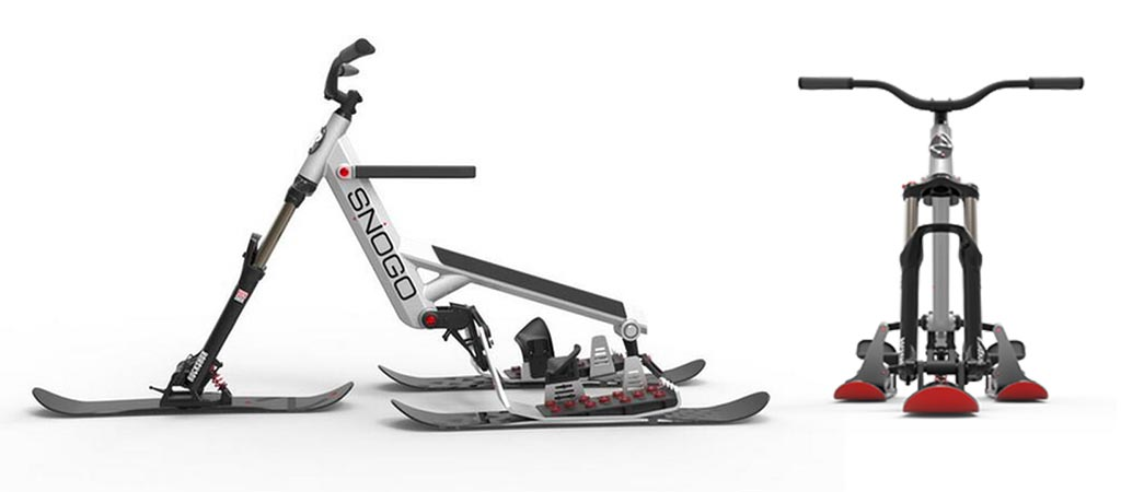 Snogo Bicycle Style Skiing