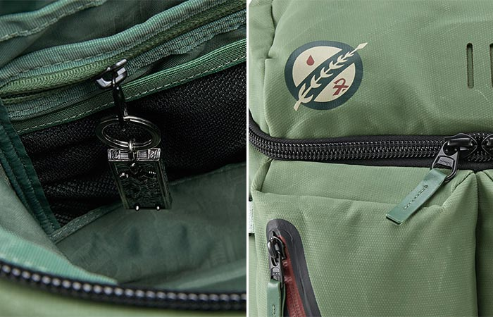 Details on Star Wars X Nixon Boba Fett A-10 Backpack