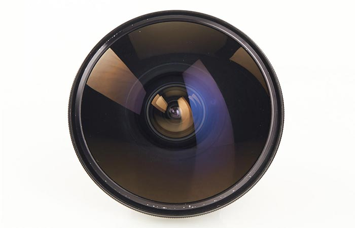 Nikon lens photographed from above