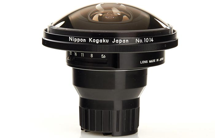 Nikon lense seen whole from top to bottom