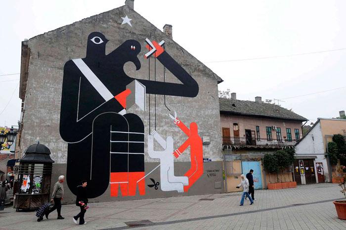 Novi Sad mural