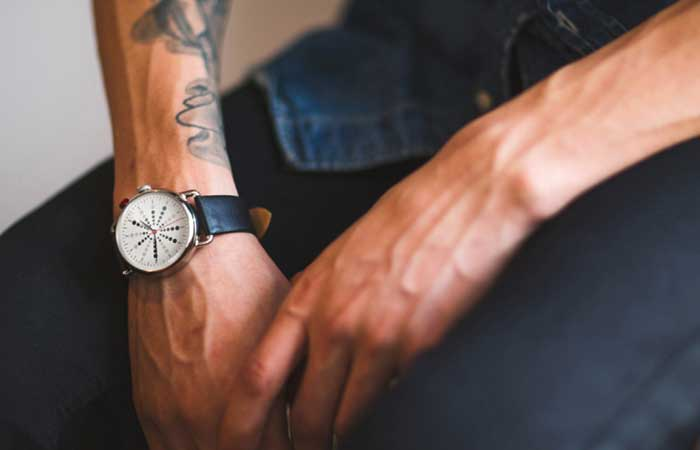 A man wearing What Watch