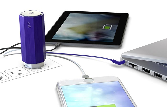 Zolt Charger charging three devices