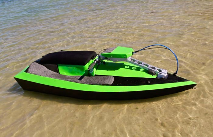 BomBoard - Portable Action Watercraft in shallow water.