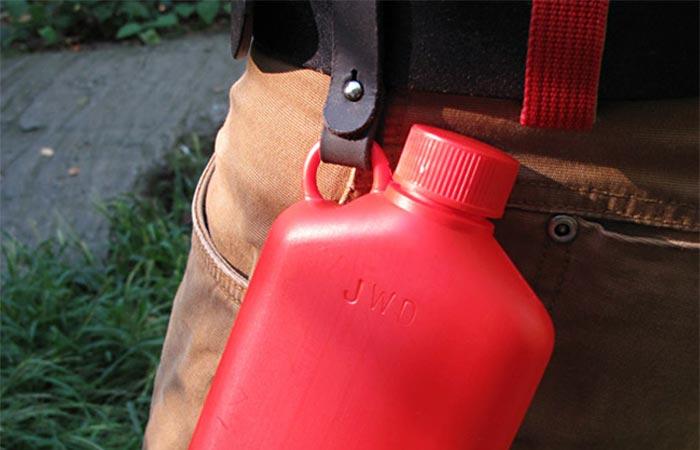 Bush Smarts Hip Flask On A Belt