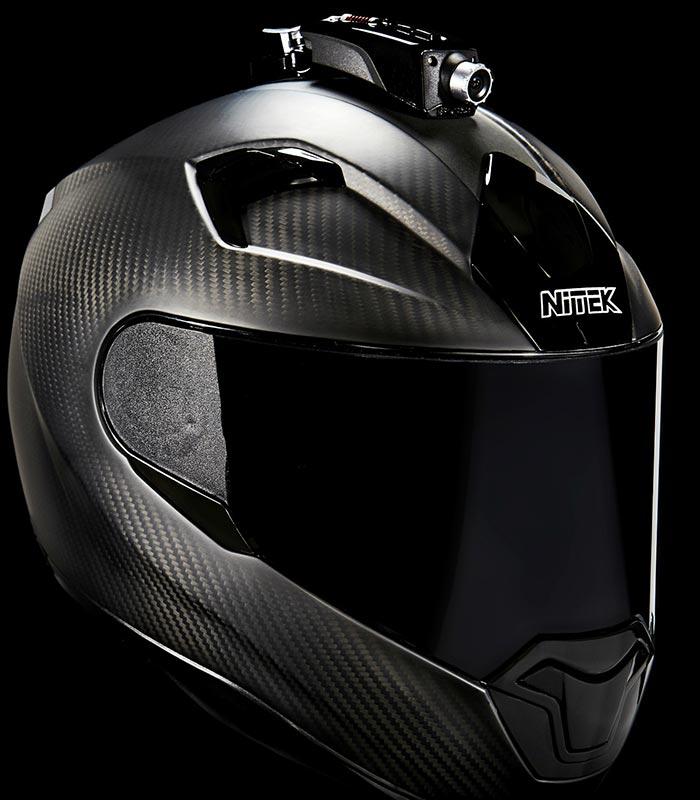 Mohawk on a black helmet.