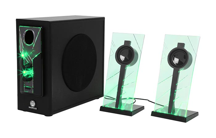 Green GOgroove BassPULSE Speakers