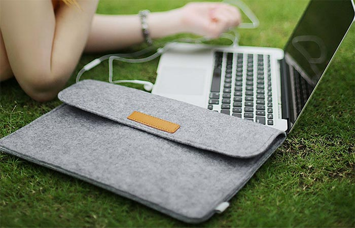 Inateck Sleeve Case Cover On The Grass