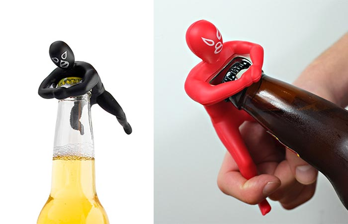 Black and red Luchador Bottle Opener