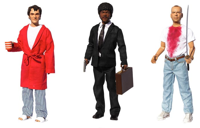 Pulp Fiction Explicit Talking Figures Jimmie Dimmick, Jules Winnfield and Butch Coolidge.