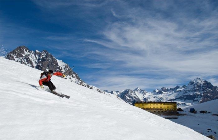 Portillo ski resort, Chile.