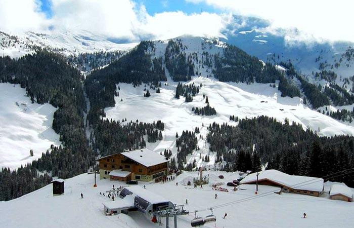 Ellmau ski resort, Austria.