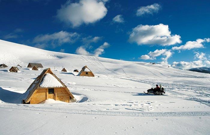 Kolašin ski resort, Montenegro.