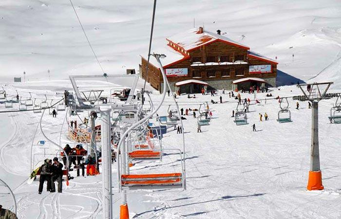 Shemshak ski resort, Iran, ski lift.