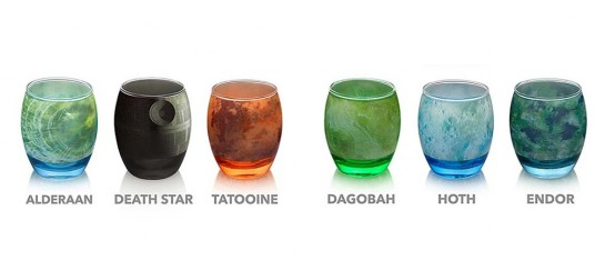 Star Wars Planetary Drinking Glassware