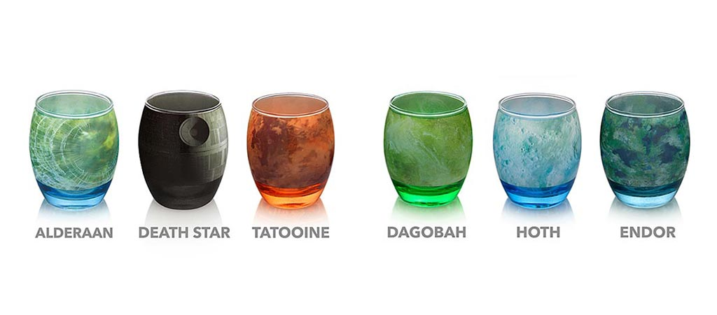 Star Wars Planetary Drinking Glassware