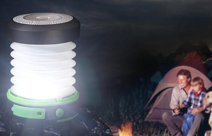 Suaoki Solar LED Light Christmas Decoration Lantern on a camping trip