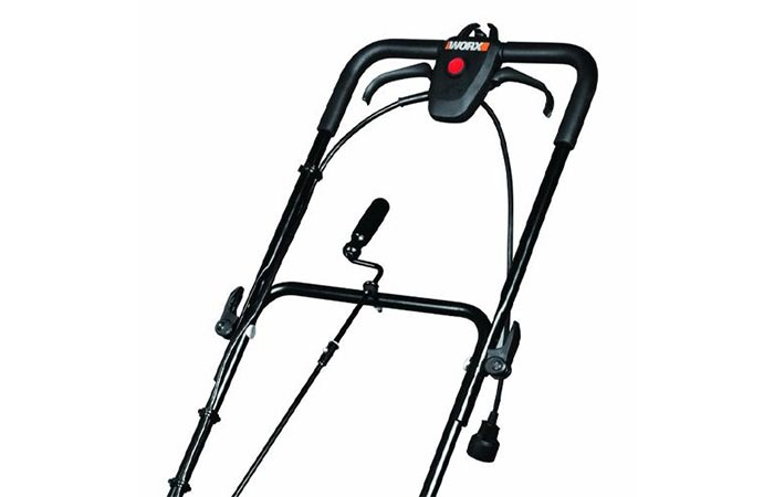 Handles of Worx Electric Snow Thrower