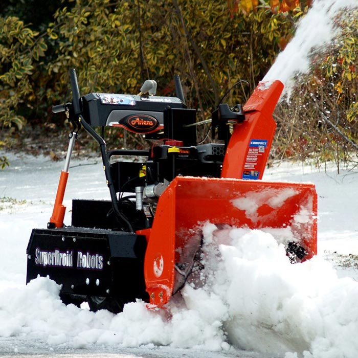 Snow Blower photographed while cleaning snow.