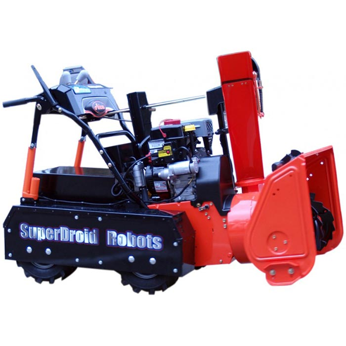 Snow Blower photographed from the side.