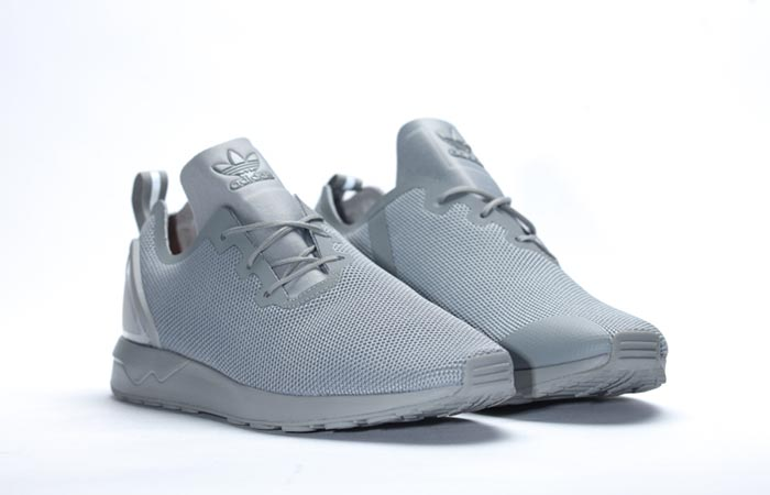 "29c678c59 Adidas ZX Flux Adv Asym ""Solid Grey"" Running Shoes"