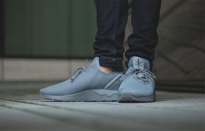 "new arrive bcd10 f1f1b Adidas ZX Flux Adv Asym ""Solid Grey"" From The Front"