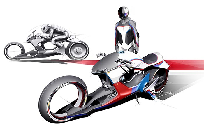 Illustraion of BMW iMotorrad Beta|R By Sebastian Martinez