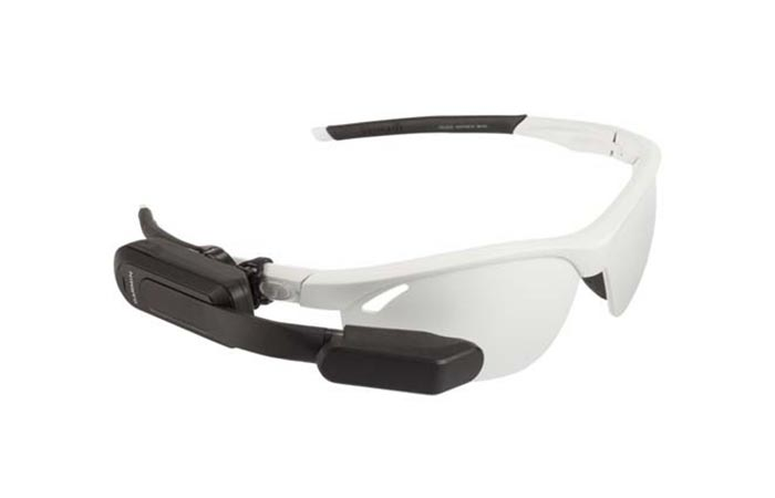 Garmin Varia Vision Attached To Sunglasses