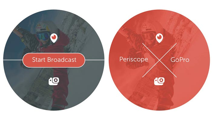 Interface of the Periscope app.