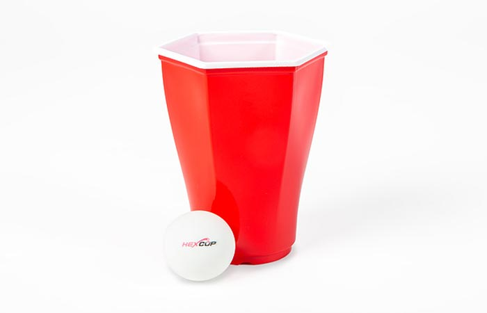 Hexcup With A Ping Pong Ball