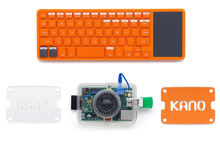 Keyboard and other accessories captured from above.
