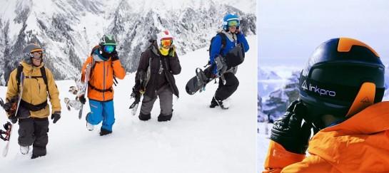 LinkPro Sports 'Explore1' Skiing Helmet With Wireless Connectivity