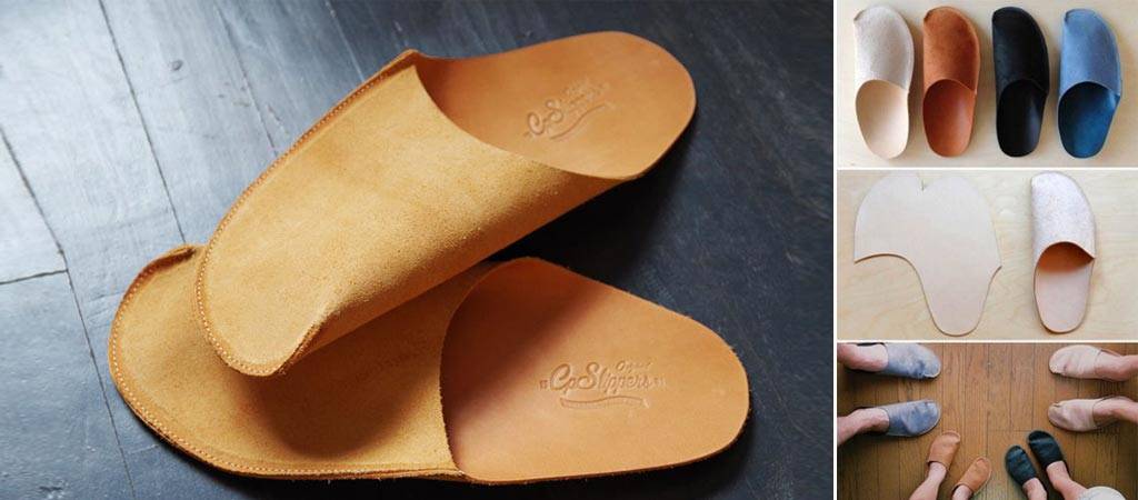 Luxurious Leather Slippers