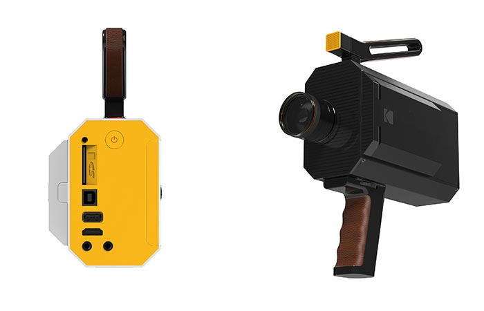 Kodak Super 8 Connectivity Options And Leather Handle