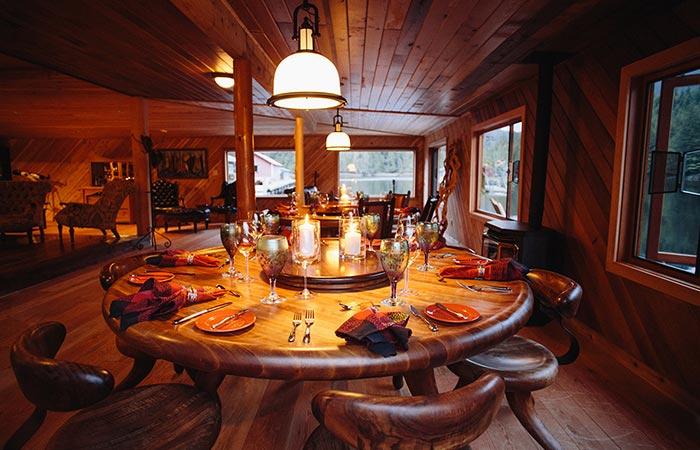Nimmo Bay Resort Breakfast Table