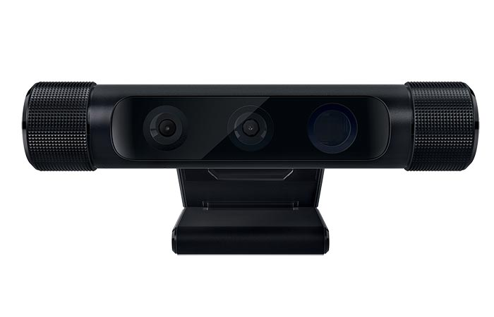 Razer Stargazer RealSense 3D Camera, front view, on a white background.